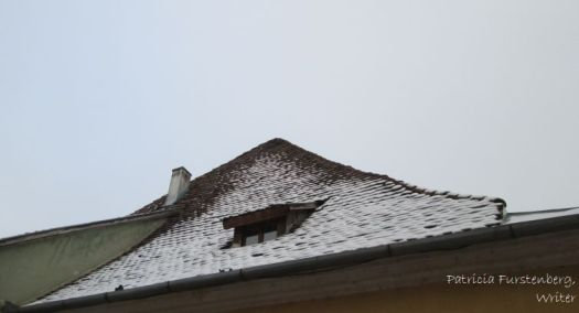 Sighisoara - slanted roof and a peep-window