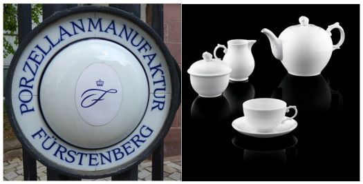 The blue 'F' Furstenberg trade mark and Alt Furstenberg porcelain collection, Rococo since 1740