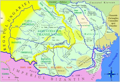 Transylvania Romania Origin Etymology - Romanian political countries during IX - XIII centuries