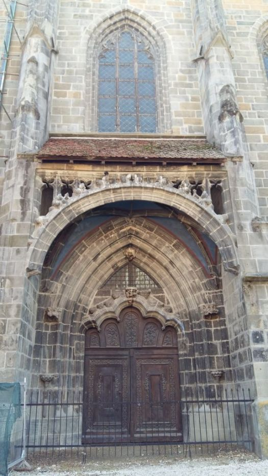 The Golden Gate Portal of Black Church, Brasov, and the window above it. Source, Pat Furstenberg