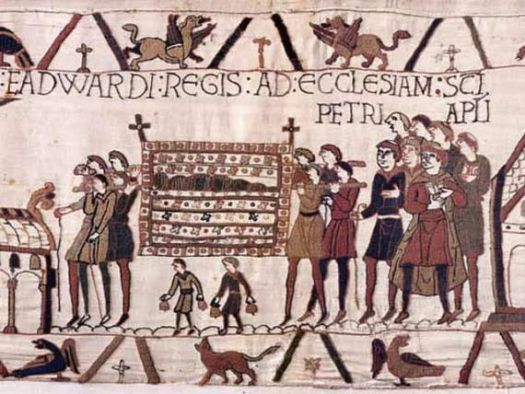 Bayeux Tapestry dog in medieval art