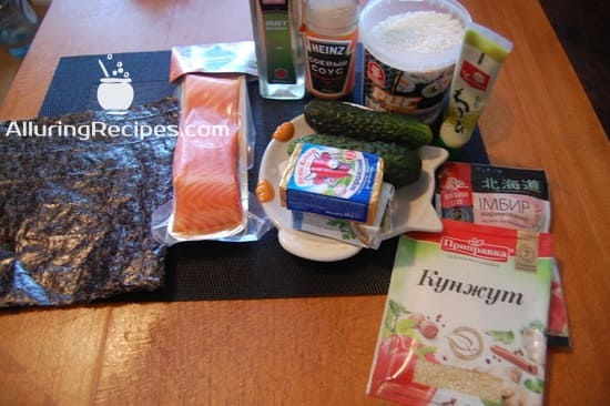 Ингредиенты для суши-ролл