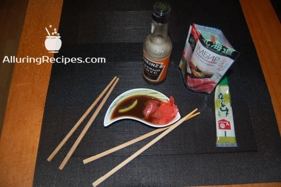 Соус для суши-ролл с имбирем и васаби