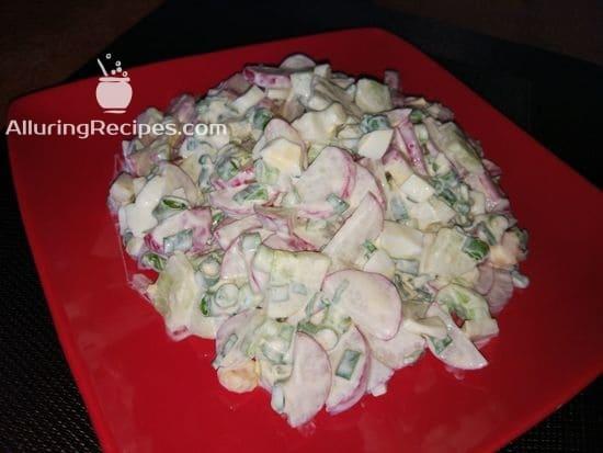 Салат из редиски - alluringrecipes.com