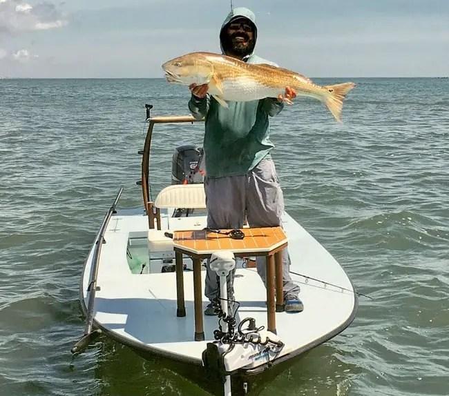 trolling motor reverse lands redfish