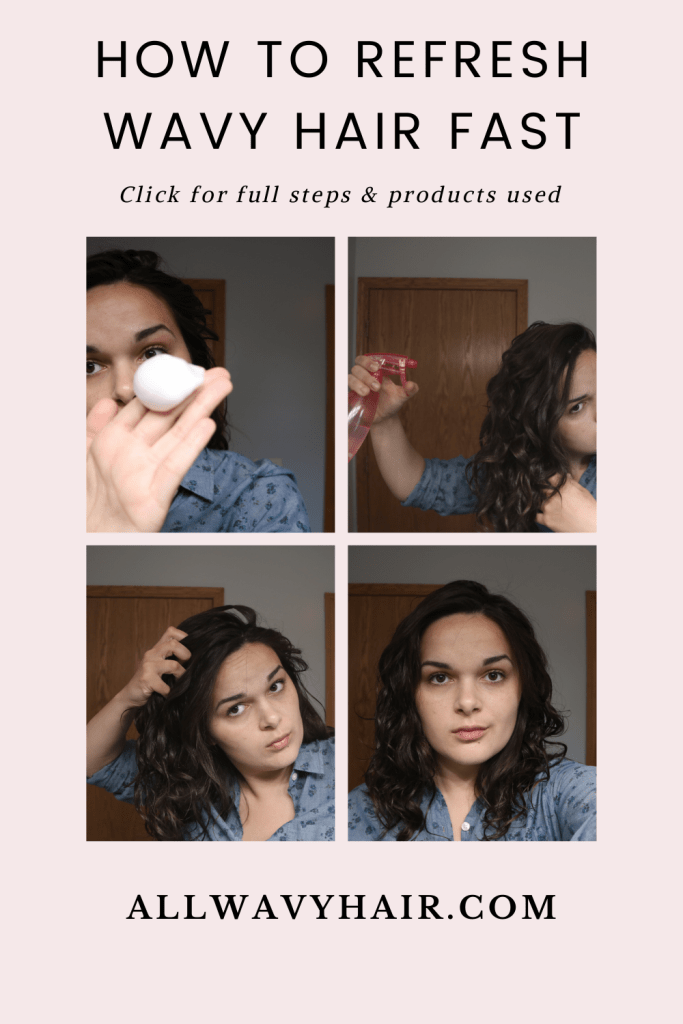 how to refresh wavy hair in 2 minutes with mousse