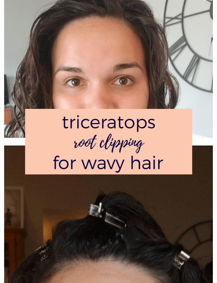 Triceratops Root Clipping Wavy Hair