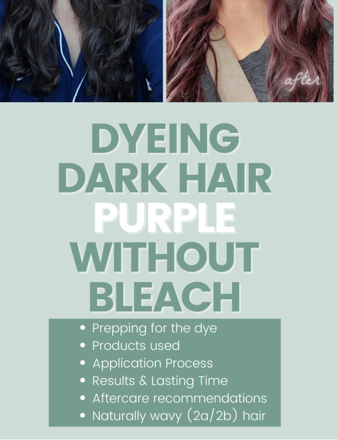 Dyeing Very Dark Brown Hair Purple Without Bleach – Dyeing Dark Wavy Hair Purple – Dyeing Dark Brunette Hair Purple Without Bleach – Dyeing Wavy Curly Hair Purple – Arctic Fox Review Dark Hair – Purple Rain Review