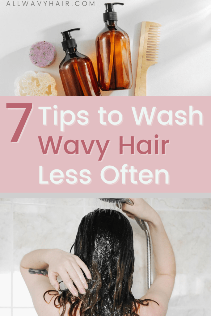 wash wavy hair less curly hair stop washing hair daily