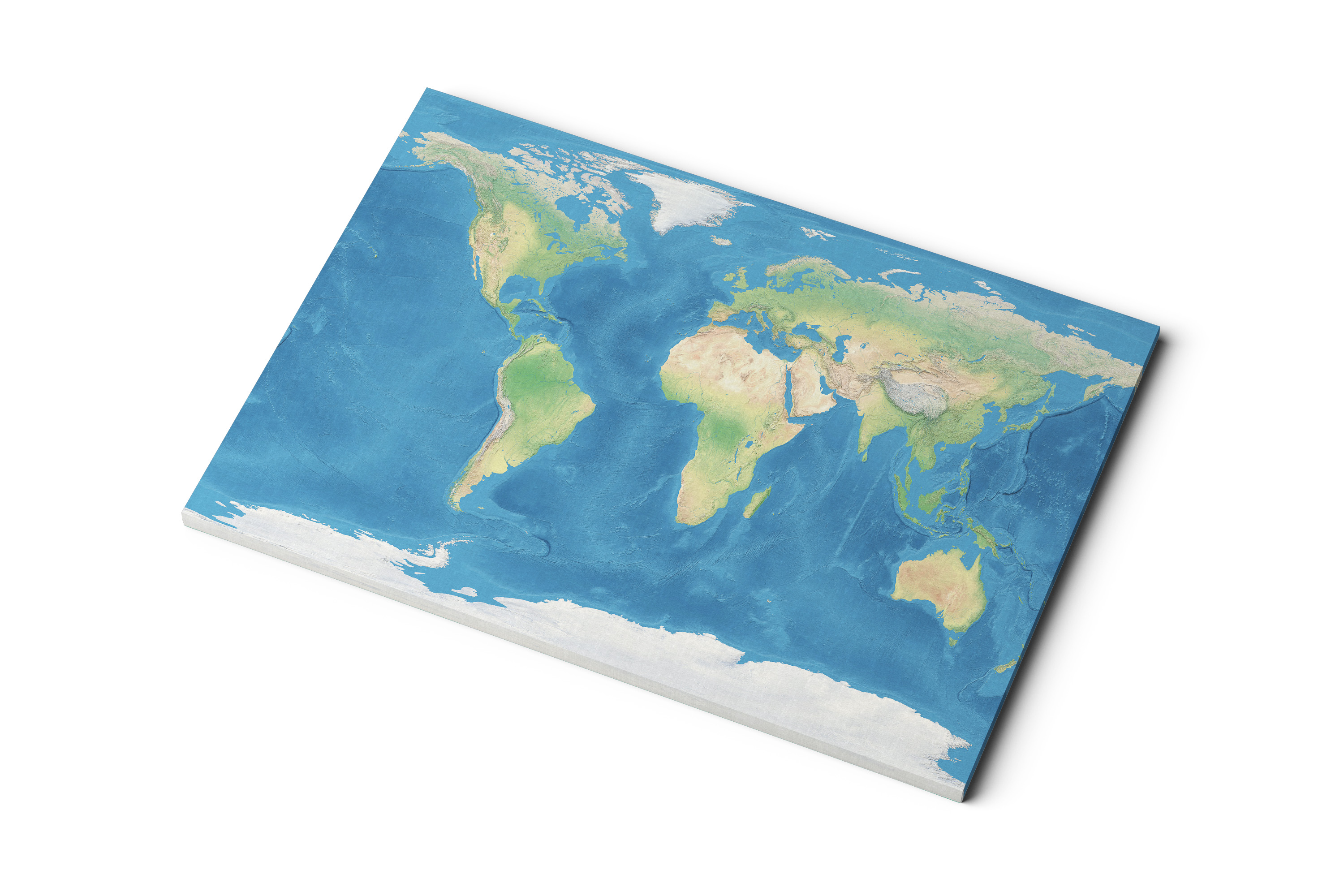 Canvas World Map Realistic Earth With Clouds All Ways Artwork