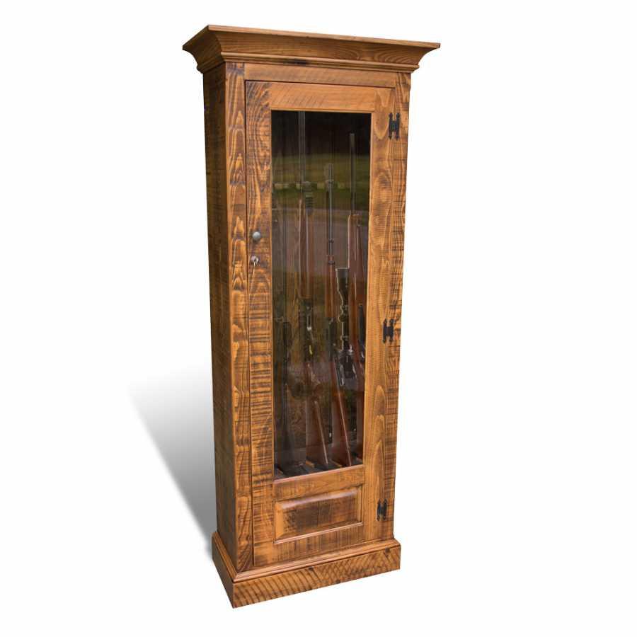 Single Door Rustic Gun Cabinet