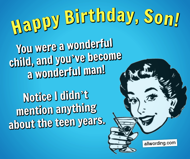 Happy Birthday Son 50 Birthday Wishes For Your Boy Allwording Com