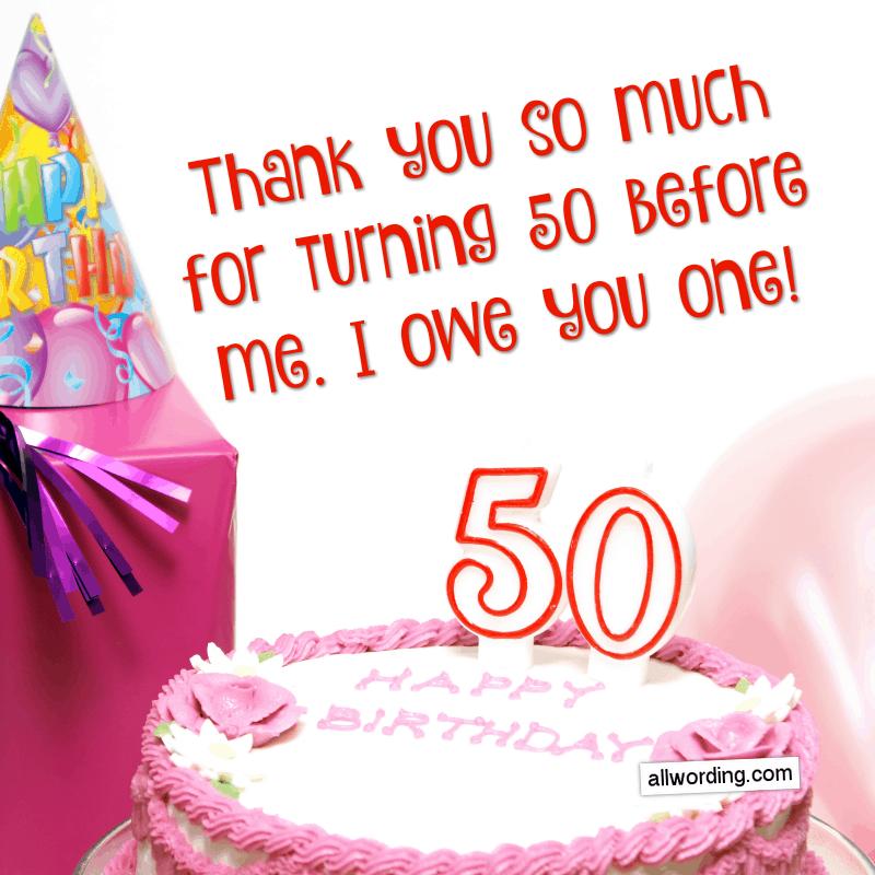 Happy 50th Birthday A Big List Of 50th Birthday Wishes Allwording Com