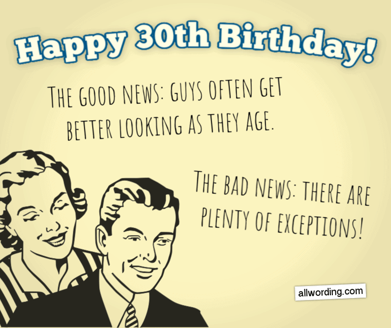 30 Ways To Wish Someone A Happy 30th Birthday Allwording Com