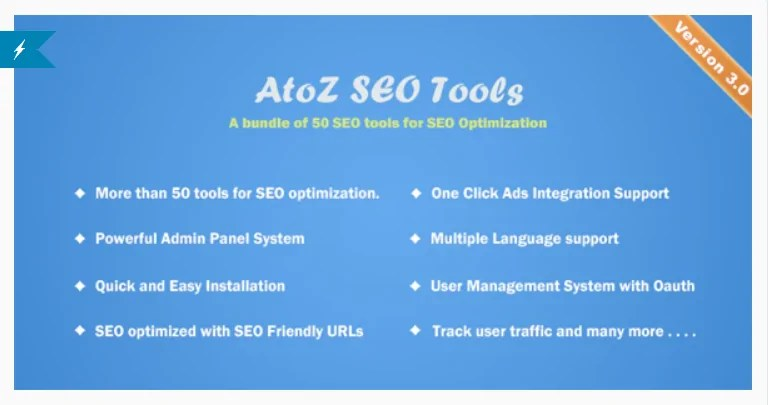 You are currently viewing AtoZ SEO Tools 3.1 Nulled – Search Engine Optimization Tools