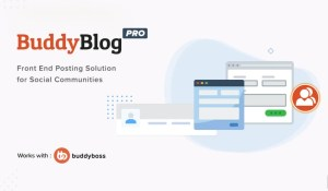 Read more about the article BuddyBlog Pro 1.1.4 – Front End Posting For BuddyPress And BuddyBoss