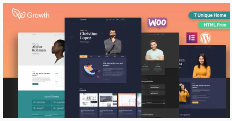 You are currently viewing Growth 1.9.0 – Personal Portfolio WordPress Theme