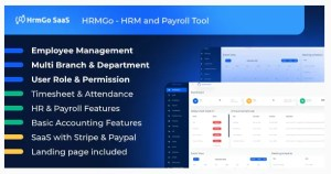 Read more about the article HRMGo SaaS 4.1.8 NULLED – HR and payroll management tool