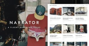 Read more about the article Narrator 1.3.4 – A Fluent WordPress Blogging Theme