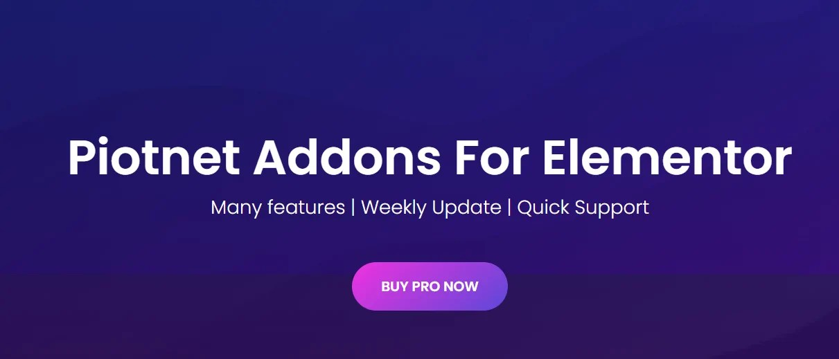 Read more about the article Piotnet Addons For Elementor Pro 6.4.8 NULLED – Addon For Elementor