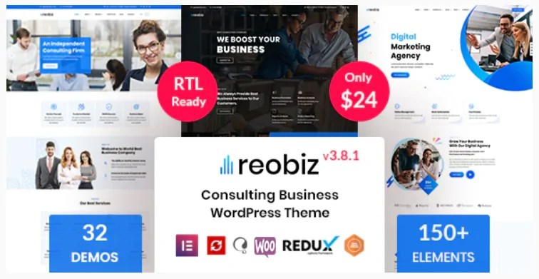 You are currently viewing Reobiz 4.7.1 – Consulting Business WordPress Theme