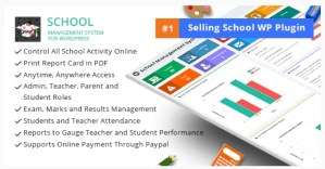 Read more about the article School Management System 72.0 Nulled – WordPress Plugin