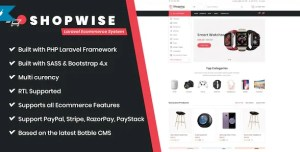 Read more about the article Shopwise 1.5.3 – Laravel Ecommerce System
