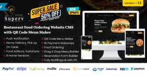 Read more about the article Superv 1.4 NULLED – Restaurant Website Management with QR Code Menu & Food Order