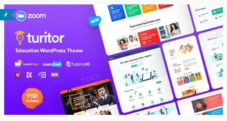 You are currently viewing Turitor 1.3.7 – LMS & Education WordPress Theme