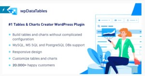 Read more about the article wpDataTables 3.4.3 + Addons – Tables and Charts Manager for WordPress