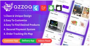 Read more about the article Azzoa 4.0.3 Nulled – Grocery, MultiShop, eCommerce Flutter Mobile App with Admin Panel