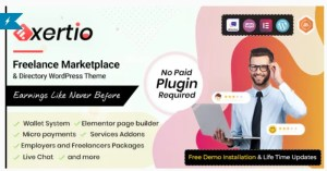 Read more about the article Exertio 1.0.7 – Freelance Marketplace WordPress Theme