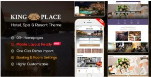 Read more about the article KingPlace 1.2.4 Nulled – Hotel Booking, Spa & Resort WordPress Theme