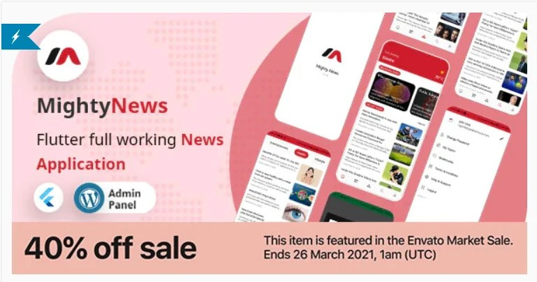You are currently viewing MightyNews 25 – Flutter 2.0 News App with WordPress backend