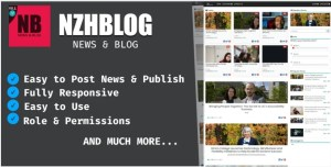 Read more about the article NzhBlog – Blog And News System PHP