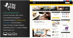 Read more about the article The Frog 3.8 – Creative News / Blog Magazine & Front-end Submission WP Theme