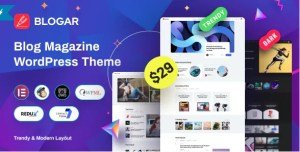 Read more about the article Blogar 1.2.0 – Blog Magazine WordPress Theme