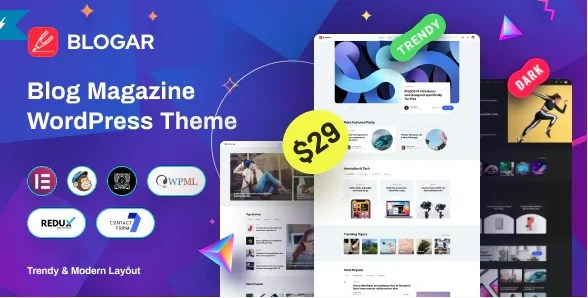 You are currently viewing Blogar 1.2.0 – Blog Magazine WordPress Theme