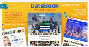 Read more about the article DateBook 4.5.8 – Dating WordPress Theme