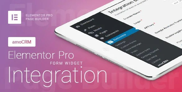 You are currently viewing Elementor Pro Form Widget – amoCRM – Integration 2.4.6 NULLED