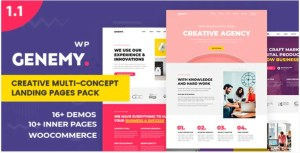 Read more about the article Genemy 1.5.6 – Creative Multi Concept Landing Pages Pack With Page Builder