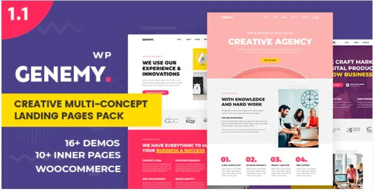 You are currently viewing Genemy 1.5.6 – Creative Multi Concept Landing Pages Pack With Page Builder