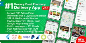 Read more about the article Grocery, Food, Pharmacy, Store Delivery Mobile App with Admin Panel 2.1.0 NULLED