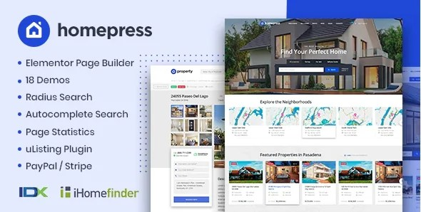 You are currently viewing HomePress 1.3.5 NULLED – Real Estate WordPress Theme
