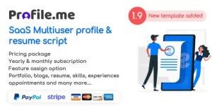 Read more about the article Profile.me 2.0 NULLED – Saas Multiuser Profile & Resume Script