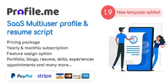You are currently viewing Profile.me 2.0 NULLED – Saas Multiuser Profile & Resume Script