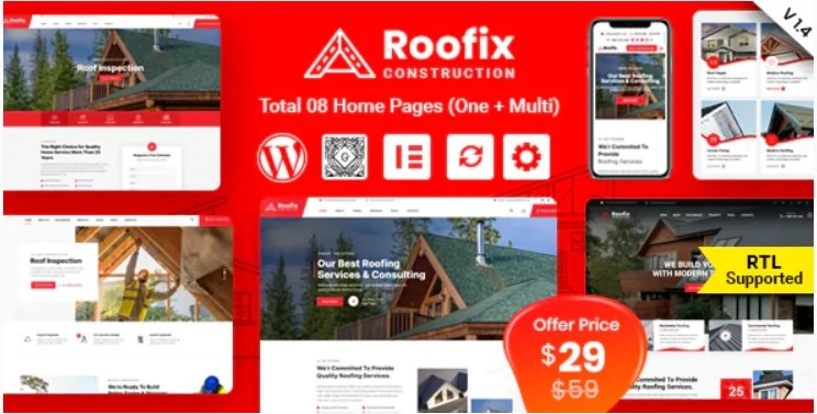 You are currently viewing Roofix 1.4.5 – Roofing Services WordPress Theme