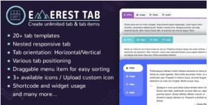Read more about the article Everest Tab 1.1.8 – Responsive Tab Plugin For WordPress