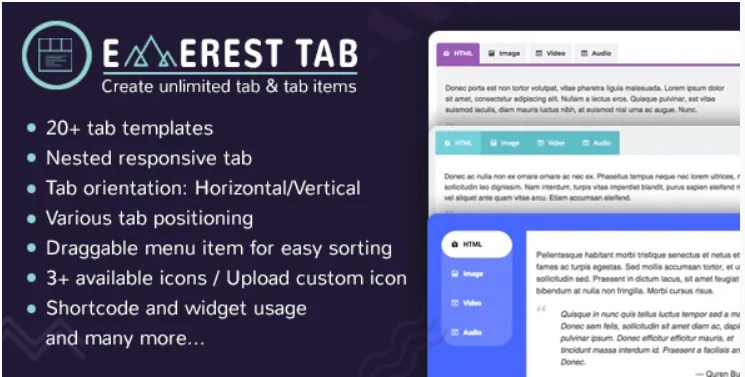 You are currently viewing Everest Tab 1.1.8 – Responsive Tab Plugin For WordPress