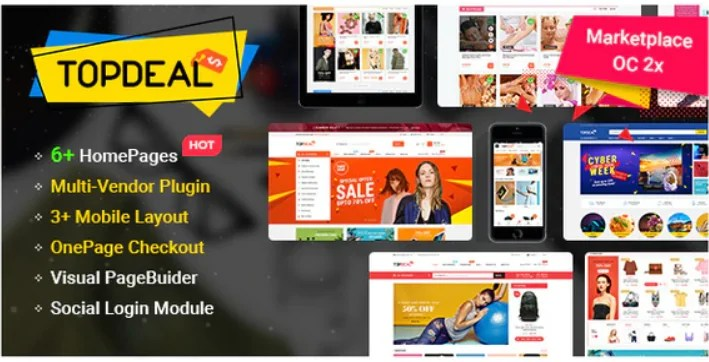 You are currently viewing TopDeal 1.0.7 – MarketPlace – Multi Vendor Responsive OpenCart 3 & 2.3 Theme